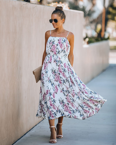 Madly In Love Floral Midi Dress