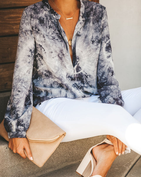 Out To Sea Tie Dye Damsel Blouse