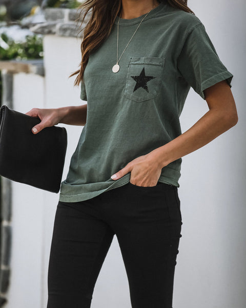 Star Of The Show Cotton Pocket Tee