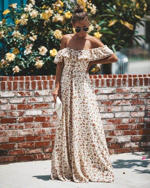 Gone With The Wind Off The Shoulder Maxi Dress