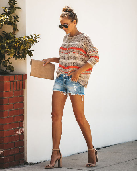 Warmth Of The Sun Light Knit Sweater - FINAL SALE
