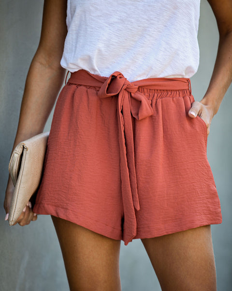 Kourtney Pocketed Tie Shorts