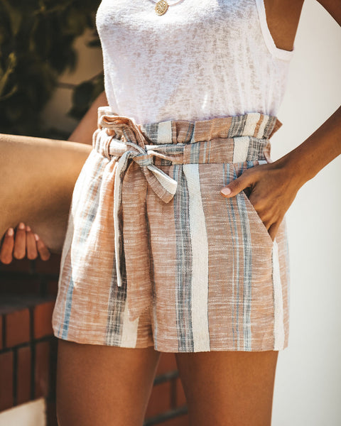 Fools Rush In Cotton + Linen Pocketed Shorts
