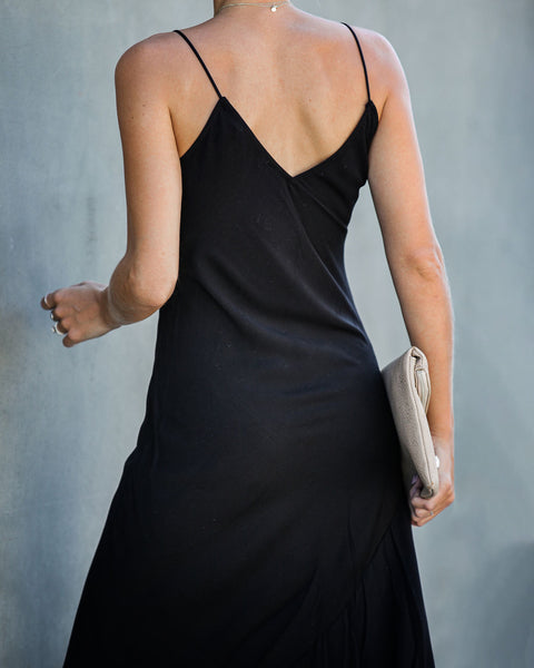 Run This Town Cami Maxi Dress - Black - FINAL SALE