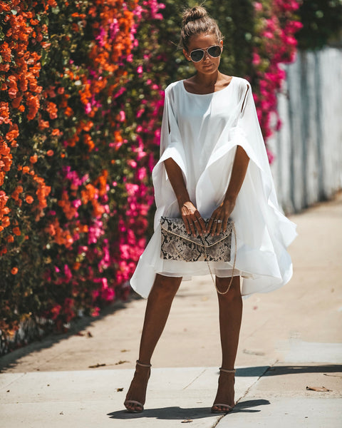 Another Dimension Statement Dress - White