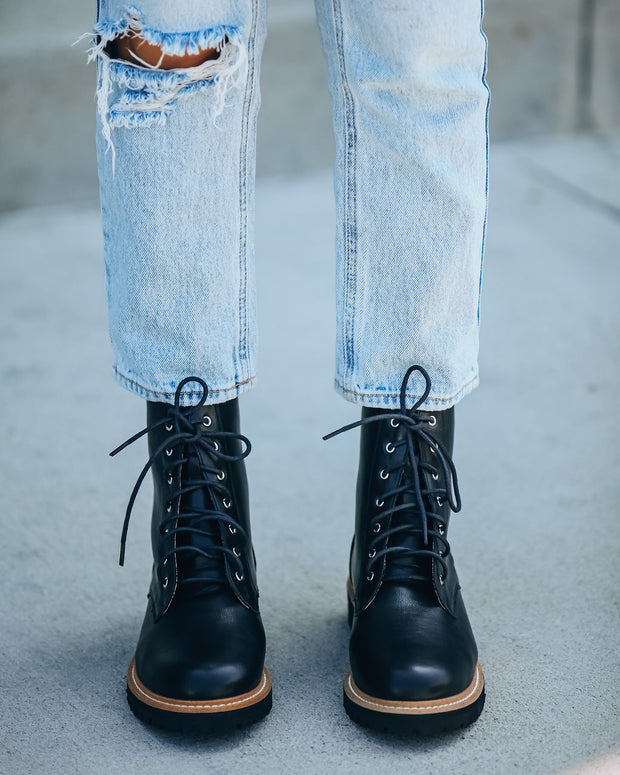 Brycen Faux Leather Lace Up Boot view 2