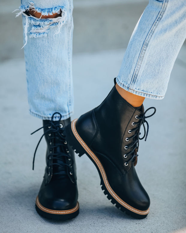 Brycen Faux Leather Lace Up Boot view 5