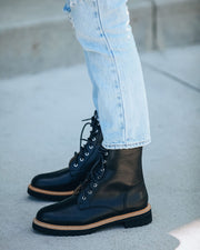 Brycen Faux Leather Lace Up Boot view 3