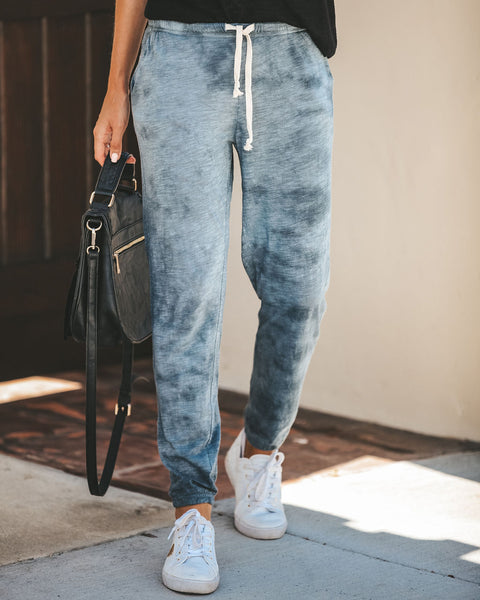 Milky Way Cotton Blend Pocketed Joggers