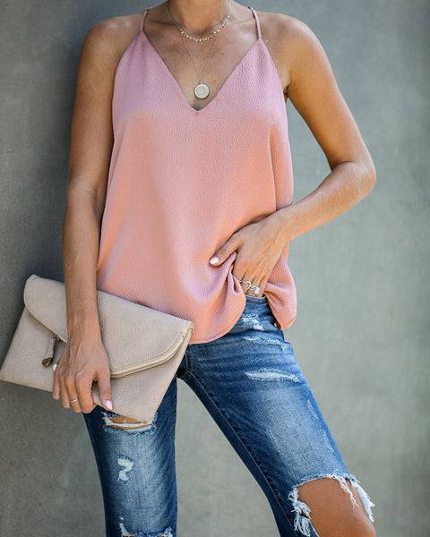 Sophisticated Living Textured Racerback Tank - Foundation
