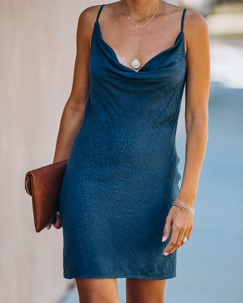Katie Embossed Leopard Mini Slip Dress
