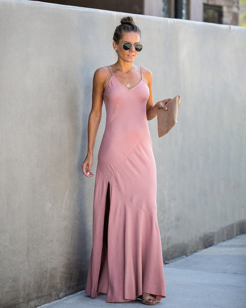 Run This Town Cami Maxi Dress - Dusty Rose - FINAL SALE