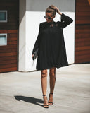 Spell Cast Lace Swing Dress - Black - FINAL SALE