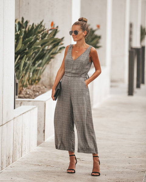 Notting Hill Plaid Pocketed Jumpsuit