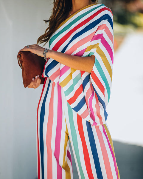 Circus Striped One Shoulder Jumpsuit - FINAL SALE