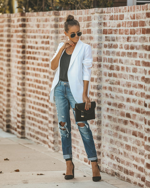 Bellissimo Pocketed Blazer - Off White