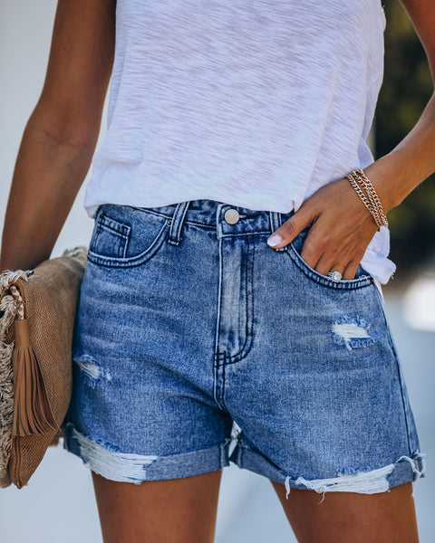 Sublime High Rise Cuffed Boyfriend Shorts