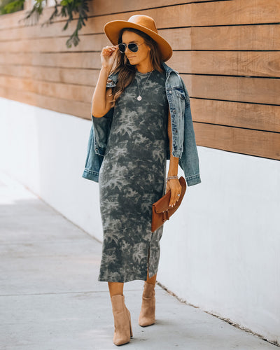 Buckeye Tie Dye Sleeveless Knit Midi Dress