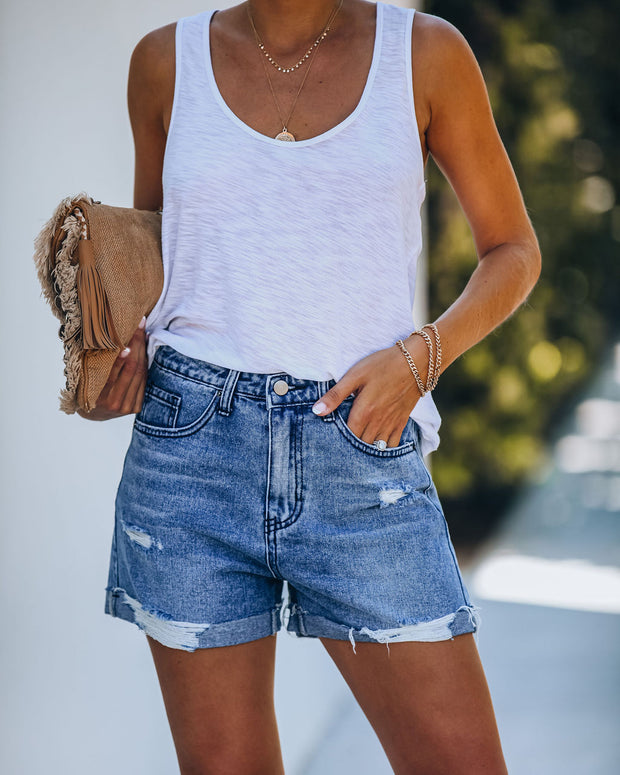 Sublime High Rise Cuffed Boyfriend Shorts - FINAL SALE