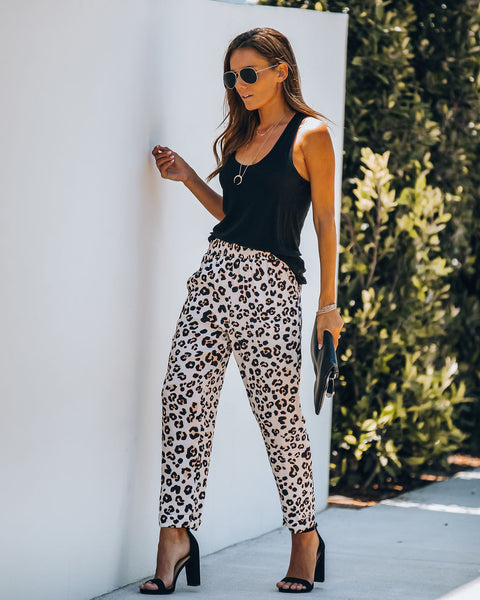 Miami Heat Pocketed Leopard Pants