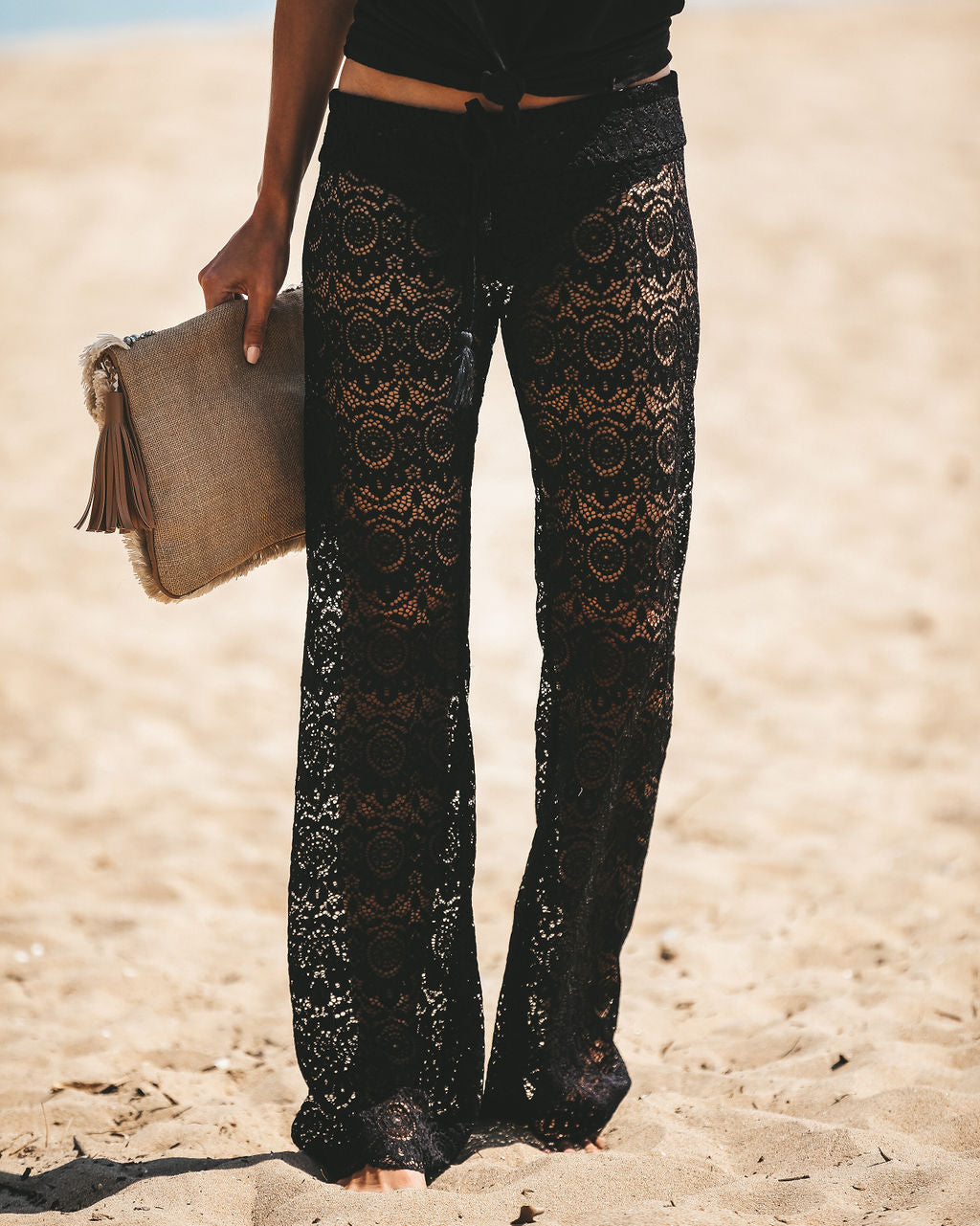cd00a8860153 Detail Product. FILTER ← Home - FINAL SALE - Flying To Fiji Lace Pants -  Black ...