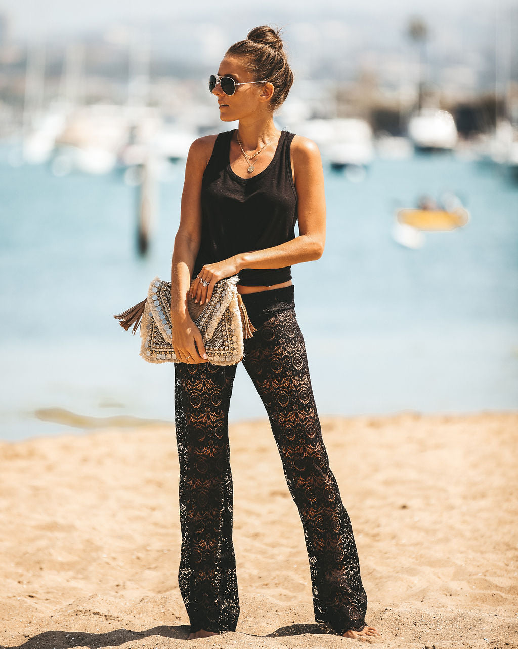 1b2d42ae72ca Flying To Fiji Lace Pants - Black - FINAL SALE – VICI