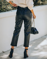 Exclusivity Pocketed Faux Leather Pants