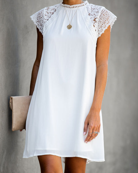 Matrimonial Crochet Lace Shift Dress
