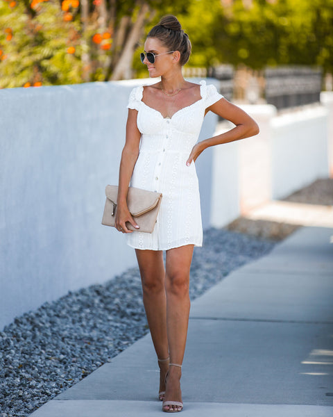 Musgraves Eyelet Embroidered Dress - Off White - FINAL SALE
