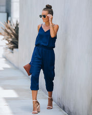 Moe Pocketed Cargo Jumpsuit - Navy - FINAL SALE