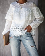 Take A Stroll Cotton Eyelet Top - FINAL SALE view 4