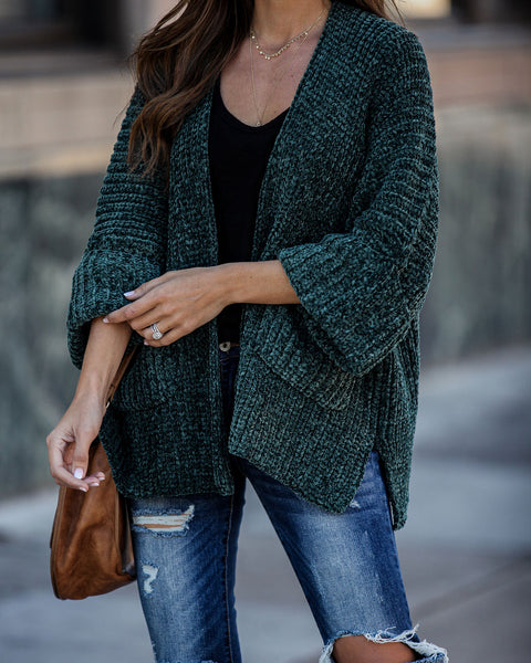 Norway Chenille Pocketed Cardigan  - FINAL SALE