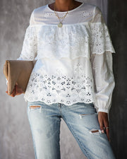 Take A Stroll Cotton Eyelet Top - FINAL SALE view 1