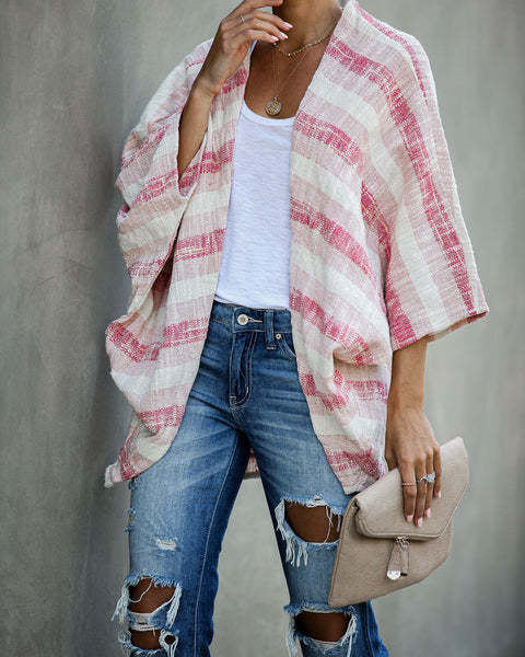 Nomad Striped Woven Cardigan - FINAL SALE