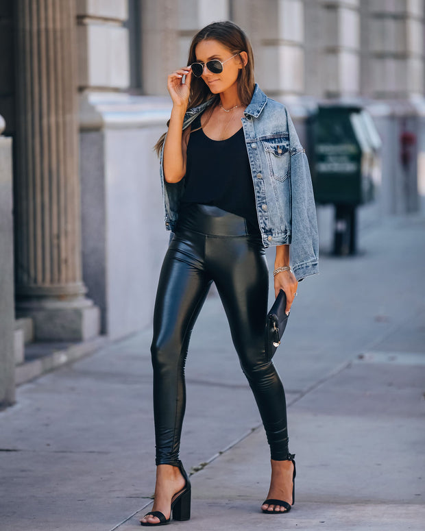Style Note Faux Leather Legging