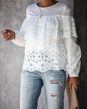 Take A Stroll Cotton Eyelet Top - FINAL SALE view 2