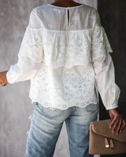 Take A Stroll Cotton Eyelet Top - FINAL SALE view 5