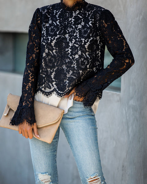 Speak The Truth Lace Contrast Top
