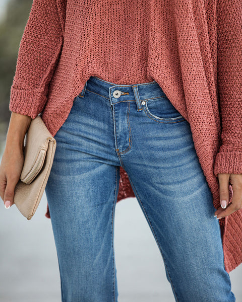 Union Mid Rise Frayed Bell Bottom Denim - FINAL SALE