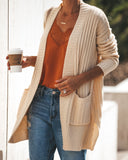Harper Pocketed Knit Cardigan - Natural