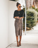 Concrete Jungle Faux Suede Leopard Skirt