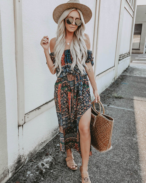 Sunbaked Off The Shoulder Maxi Dress