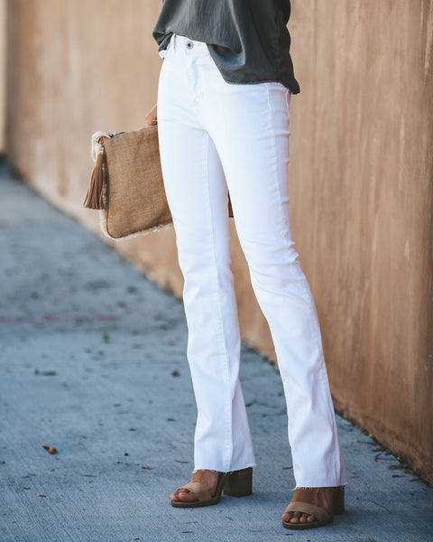Samantha White Bootcut Denim
