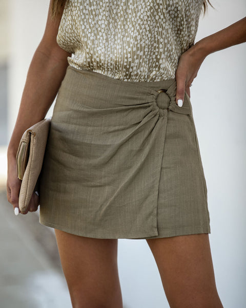 Wild As The Wind Skort - Olive