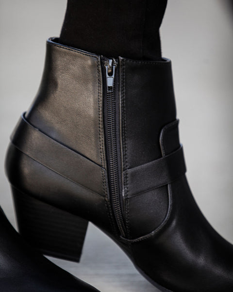 Paxton Faux Leather Pointed Bootie - FINAL SALE
