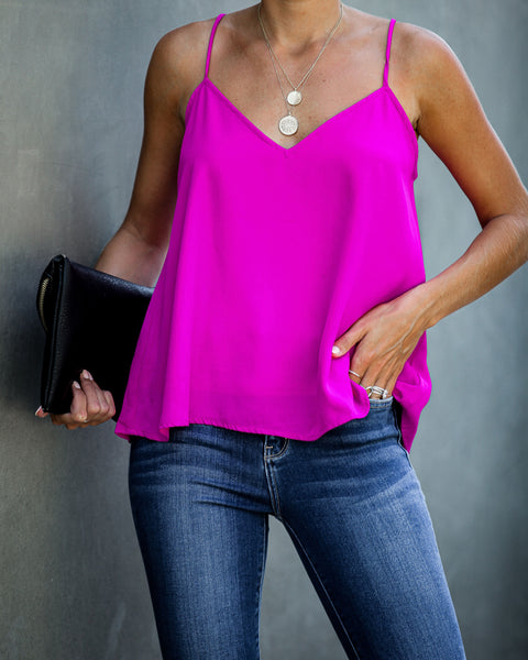 For The Story Cami Tank - Neon Berry - FINAL SALE