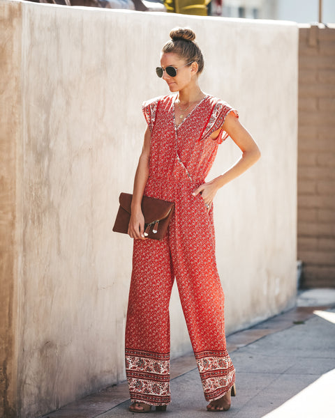 Delhi Printed Pocketed Jumpsuit - FINAL SALE