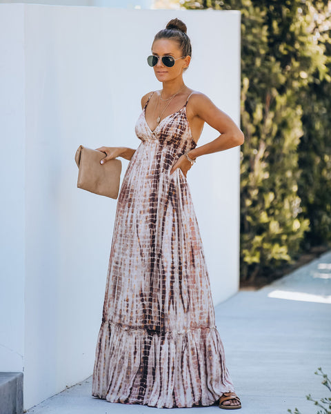 Tamarindo Metallic Tie Dye Maxi Dress
