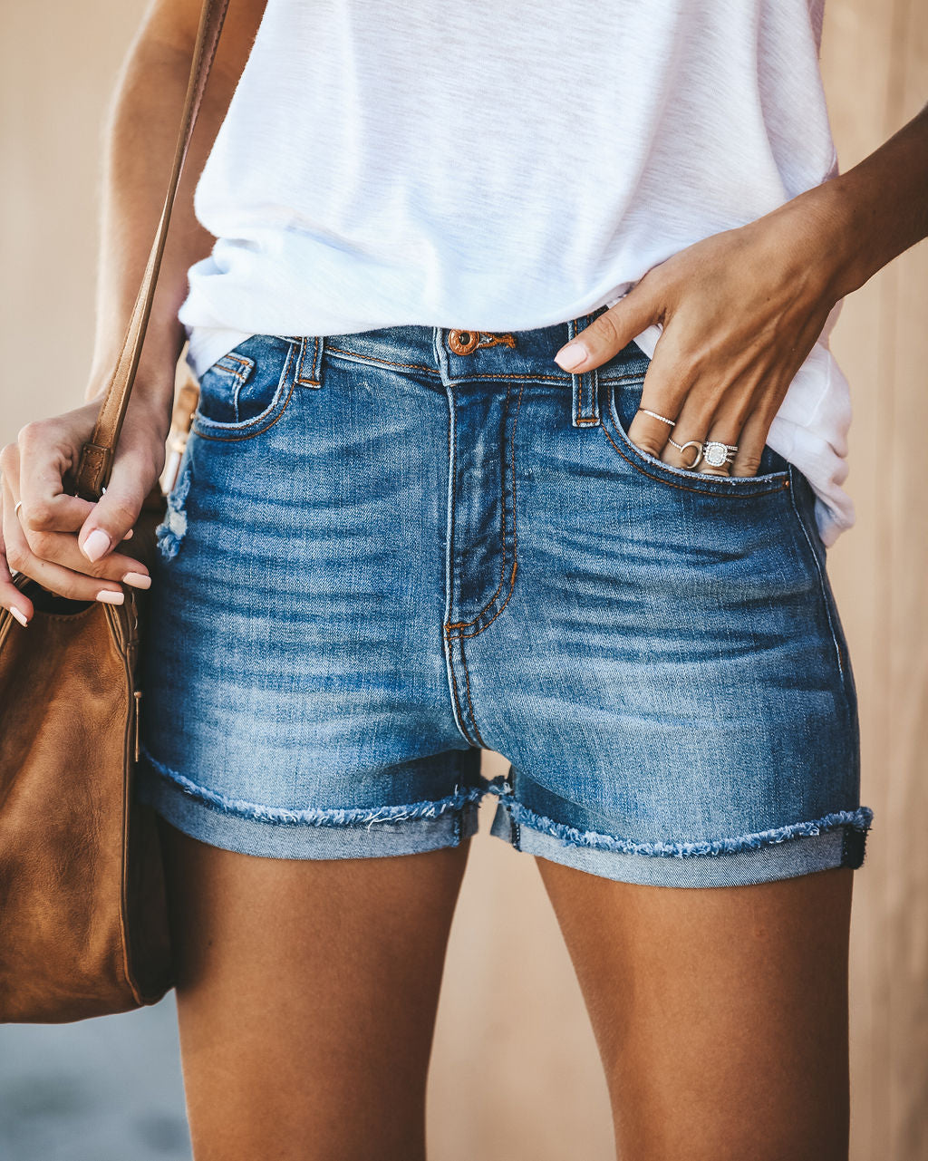 3eb1a89cb84 Detail Product. FILTER ← Home - BESTSELLERS - Tomboy High Rise Cuffed Denim  Shorts