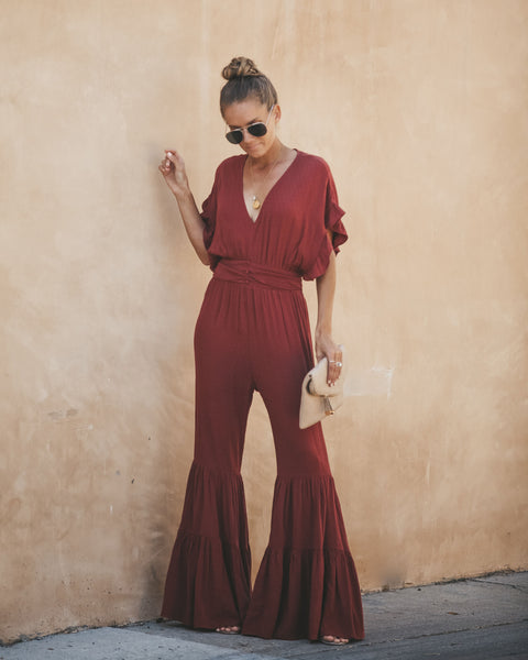 Harnessed Beauty Bell Bottom Jumpsuit